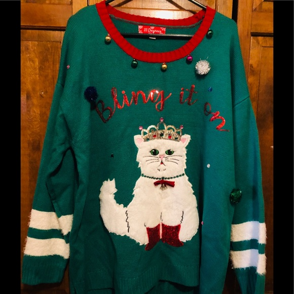 Ugly Christmas Sweater Cat.Ugly Christmas Sweater Cat 3xl Nwt
